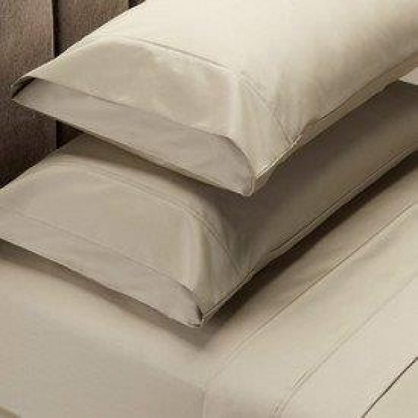 Queen bed 1000 Thread Count Cotton Rich Sheet Set Plaster by Jenny McLean