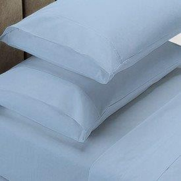 MEGA Queen bed 50cm deep wall - 1000 Thread Count Cotton Rich Sheet Set Powder Blue by Jenny McLean