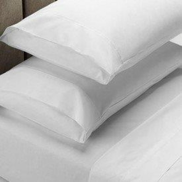 Queen bed 1000 Thread Count Cotton Rich Sheet Set White by Jenny McLean