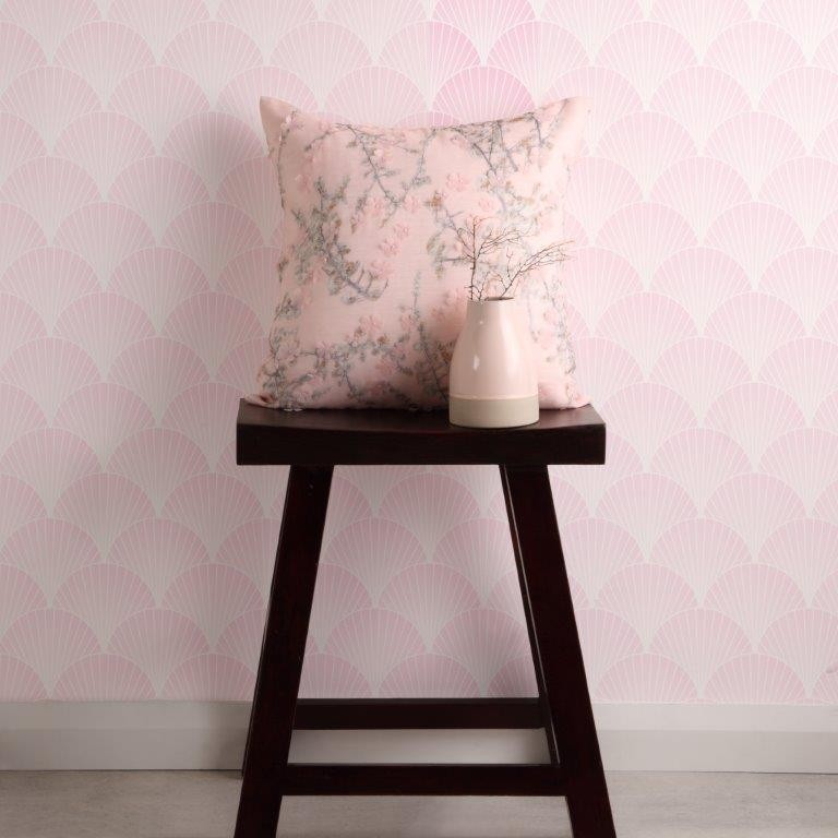 Kiko Blush Square Cushion by Logan & Mason