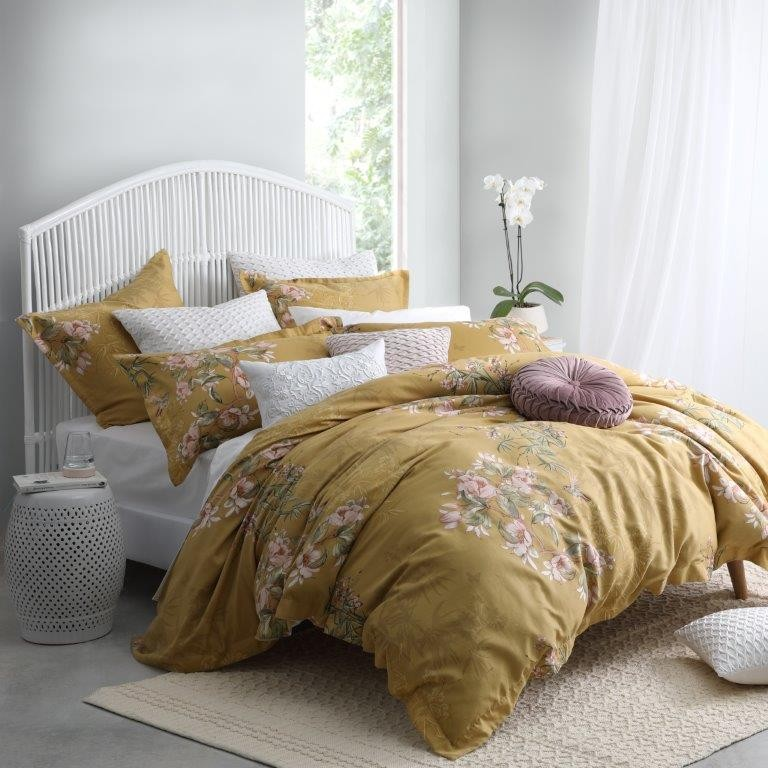 Kintori Gold Super King bed Quilt Cover Set by Private Collection