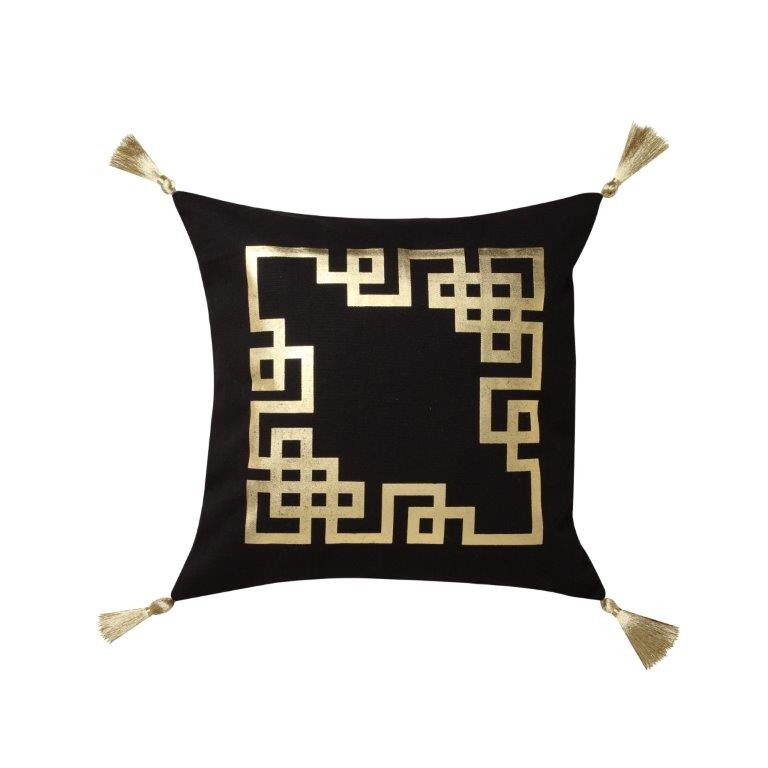 Kowloon Gold Square Cushion by Logan & Mason