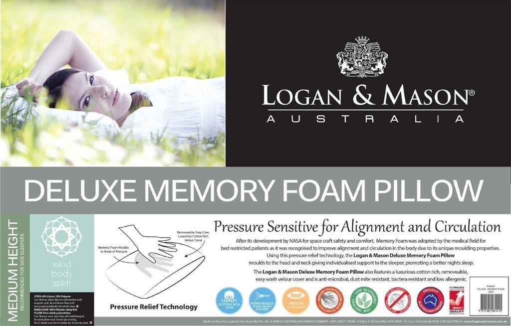 Memory Foam Pillow by Logan & Mason