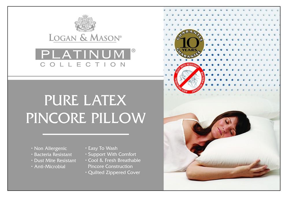 Platinum Pure Latex Pillow by Logan & Mason