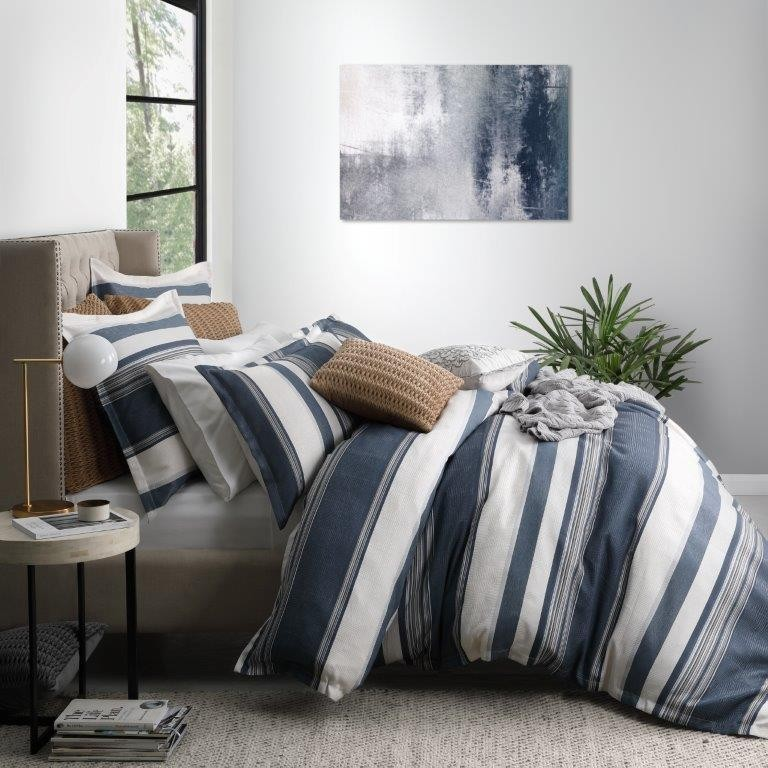 Laurant Denim King bed Quilt Cover Set by Private Collection