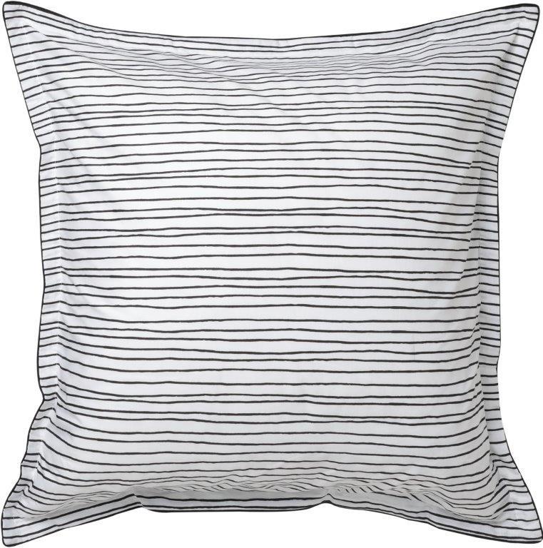 Lemony White European Pillowcase by Logan & Mason