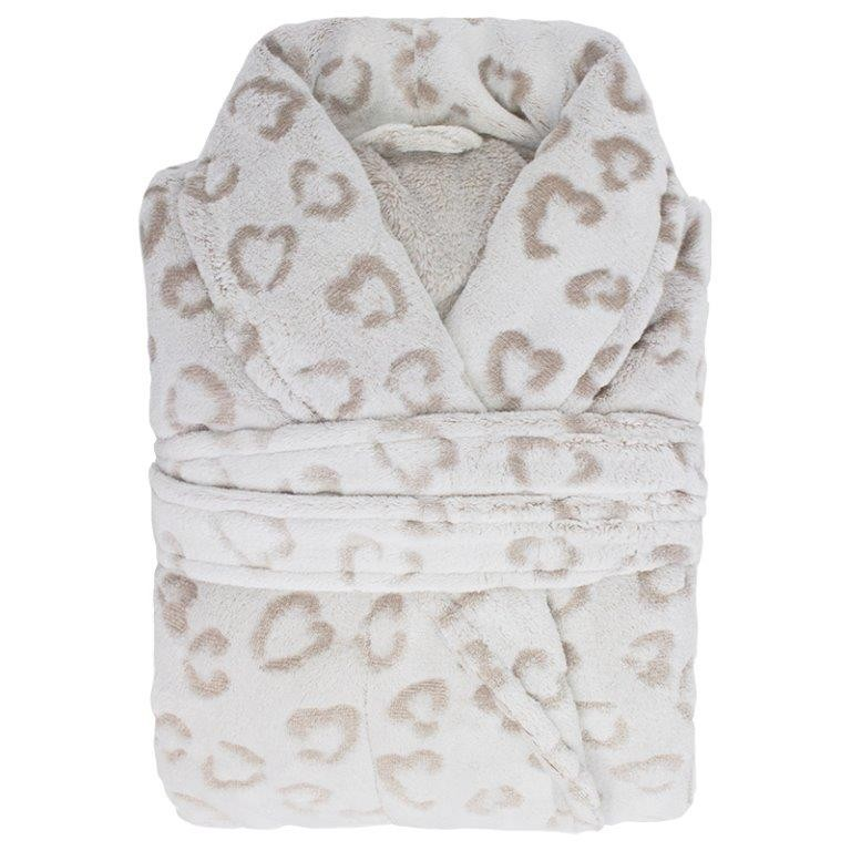Microplush Leopard Linen Bathrobe by Bambury