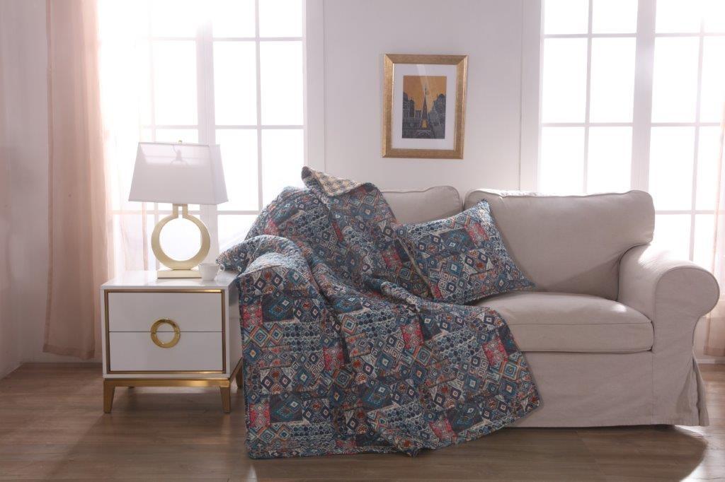 Lisbon Throw Rug & Free Cushion
