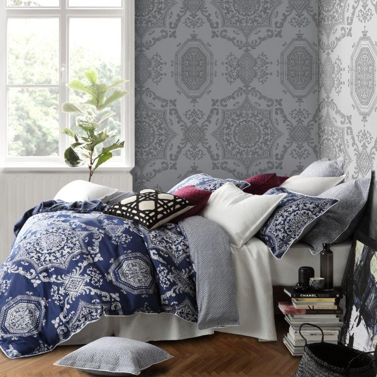 Medallion Indigo By Florence Broadhurst Quilt Covers