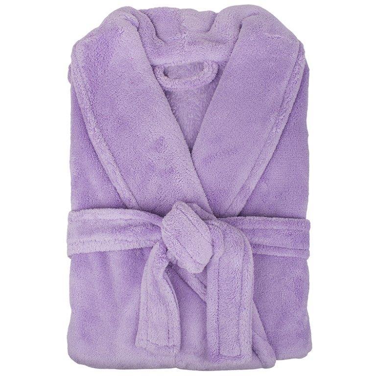 Retreat Microplush Lavender Bathrobe Medium/Large by Bambury