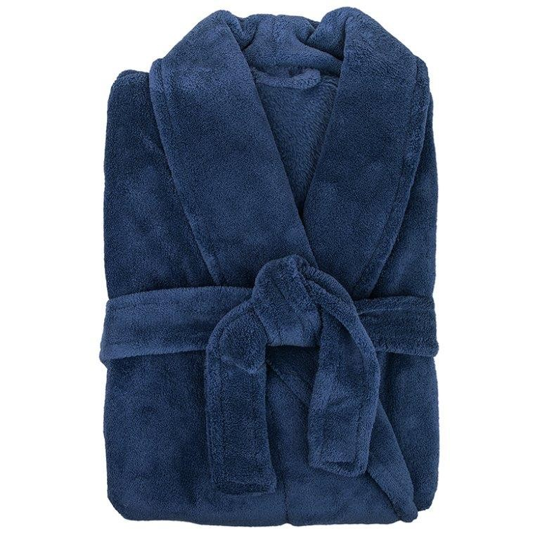 Retreat Microplush Navy Bathrobe Medium/Large by Bambury