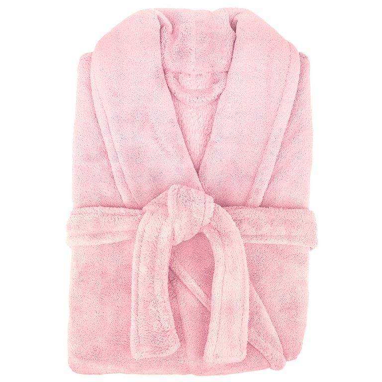 Retreat Microplush Pink Bathrobe Medium/Large by Bambury