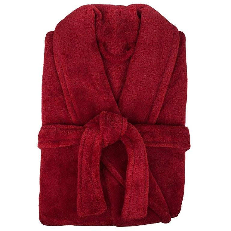 Retreat Microplush Red Bathrobe Medium/Large by Bambury