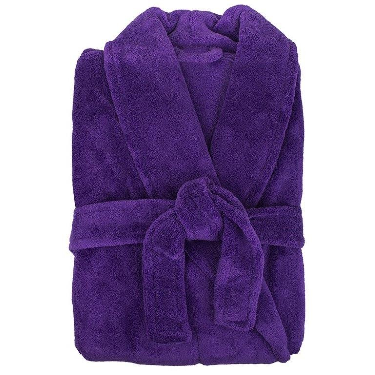 Retreat Microplush Violet Bathrobe Medium/Large by Bambury