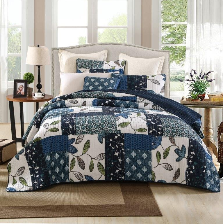 Mulberry Quilted Coverlet