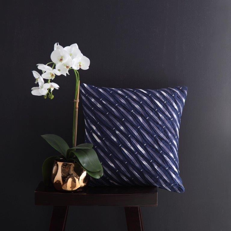 Nami Indigo Square Cushion by Logan & Mason
