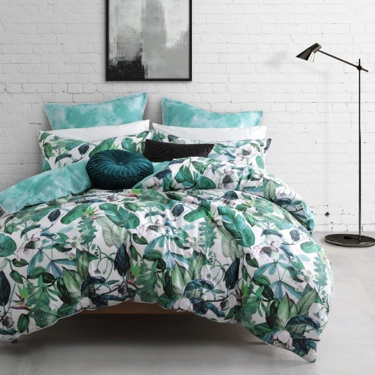 Oasis Fern Super King bed Quilt Cover Set by Logan & Mason