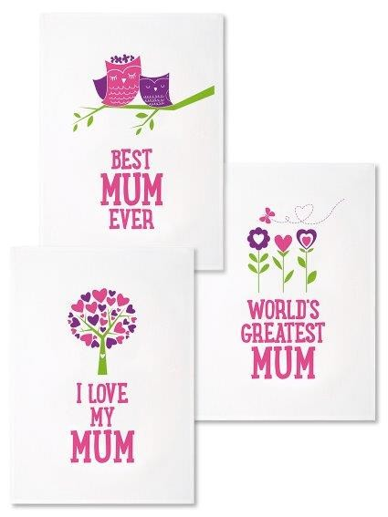 Mum Teatowel Set of 3 - Great for Mothers Day