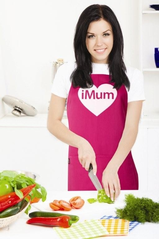 Cancer Fundraising iMum Pink Apron with Pocket