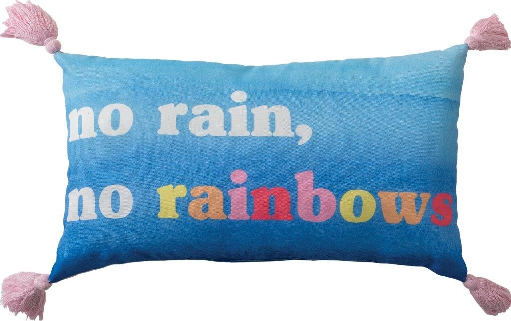 Over The Rainbow Jewel No Rain No Rainbow Cushion by Private Collection Kids