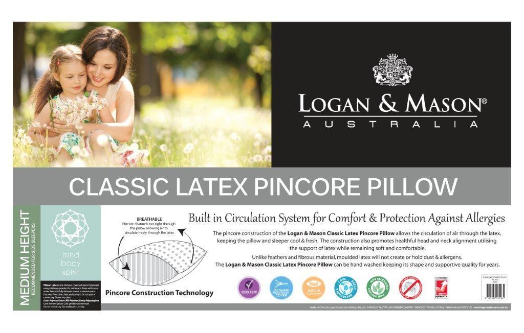 Classic Latex Pincore Pillow by Logan & Mason