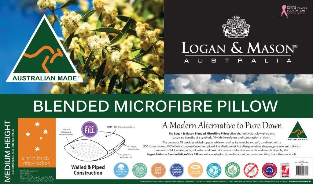 Blended Microfibre Pillow by Logan & Mason