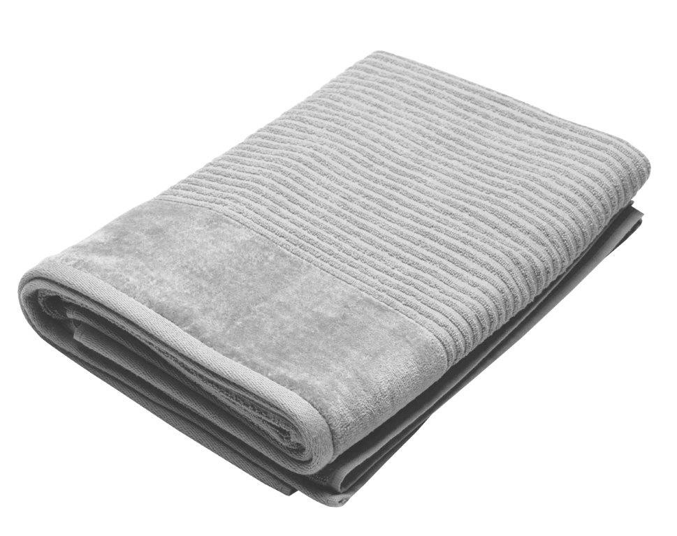 Royal Excellence 2 Piece Cotton Bath Sheet Set Silver