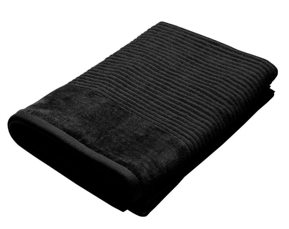 Royal Excellence 4 Piece Cotton Bath Towel Set Black