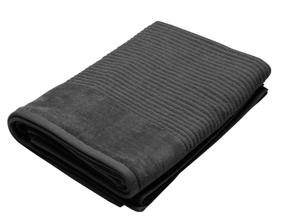 Royal Excellence 4 Piece Cotton Bath Towel Set Charcoal