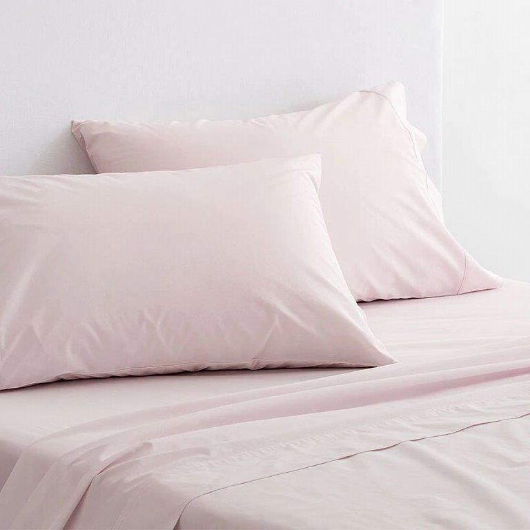300 Thread Count Organic Cotton Percale Sheeting Range in Shell by Sheridan