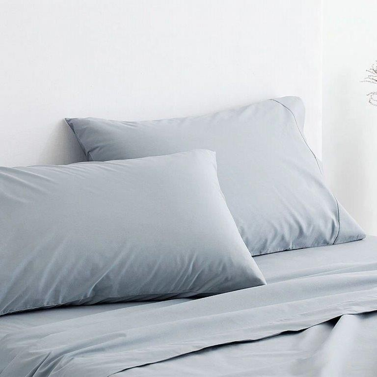 300 Thread Count Organic Cotton Percale Sheeting Range in River by Sheridan