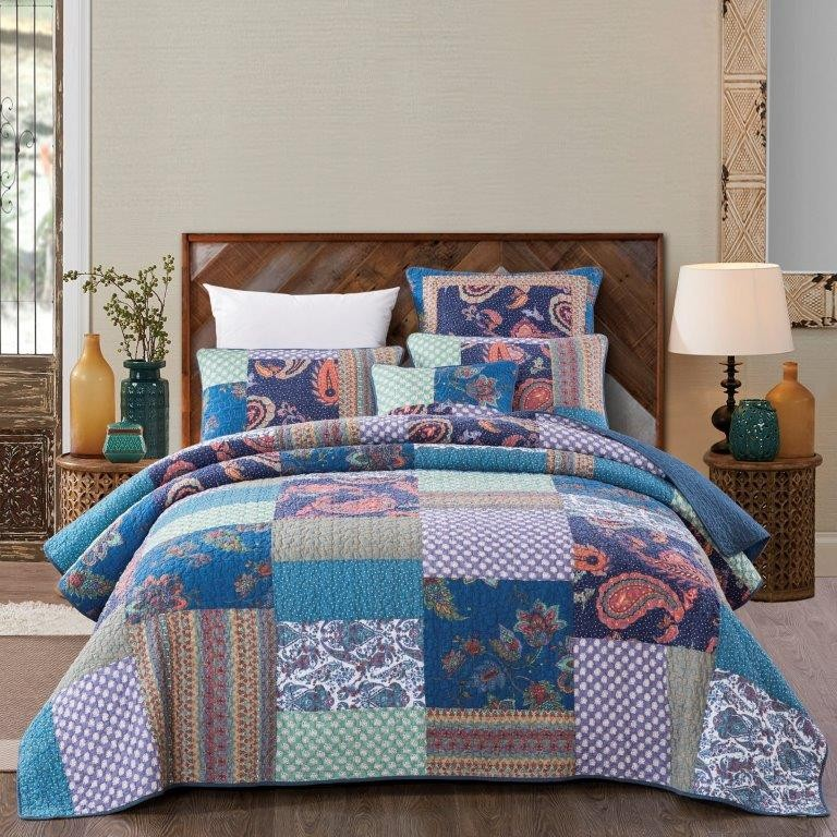 Sapphire Quilted Coverlet