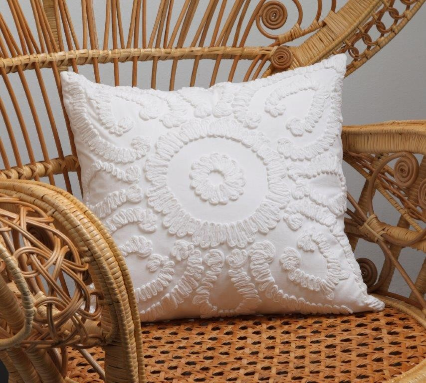 Solaris White Square Cushion by Private Collection