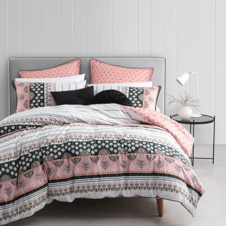 Spirit Dusk Double bed Quilt Cover Set by Logan & Mason