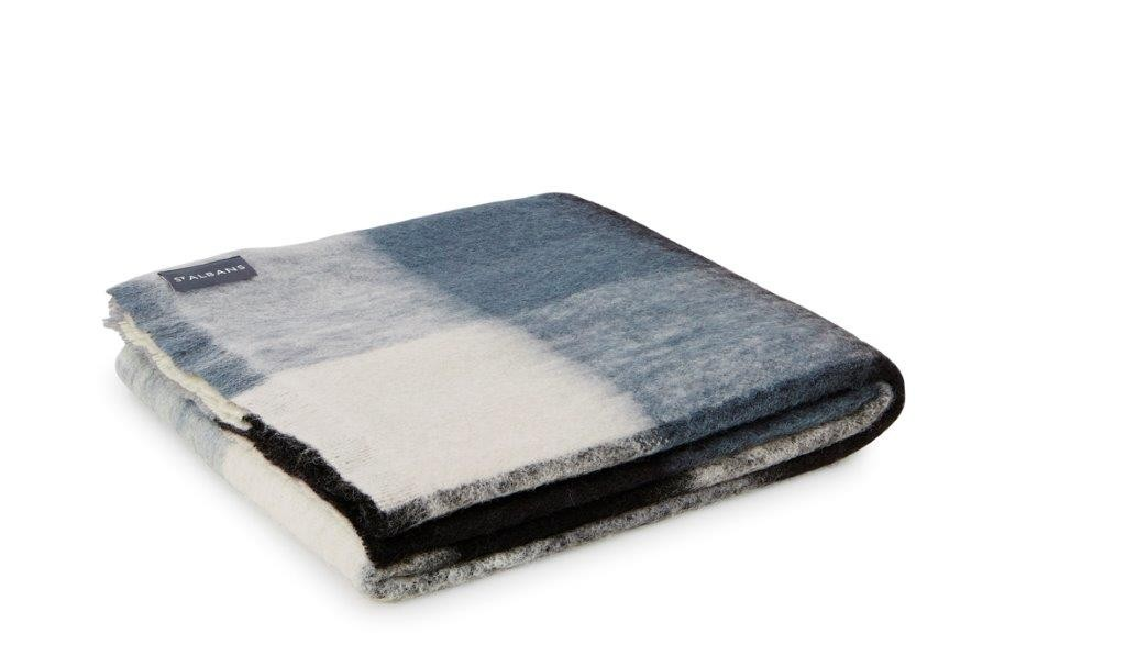 Alpaca Checkers Throw Rug by St Albans