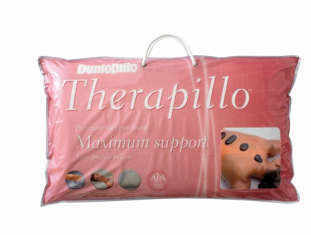 Dunlopillo Therapillo Premium Memory Foam Low Profile Pillow by Sheridan