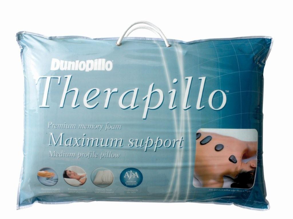 Dunlopillo Therapillo Premium Memory Foam Medium Profile Pillow by Sheridan
