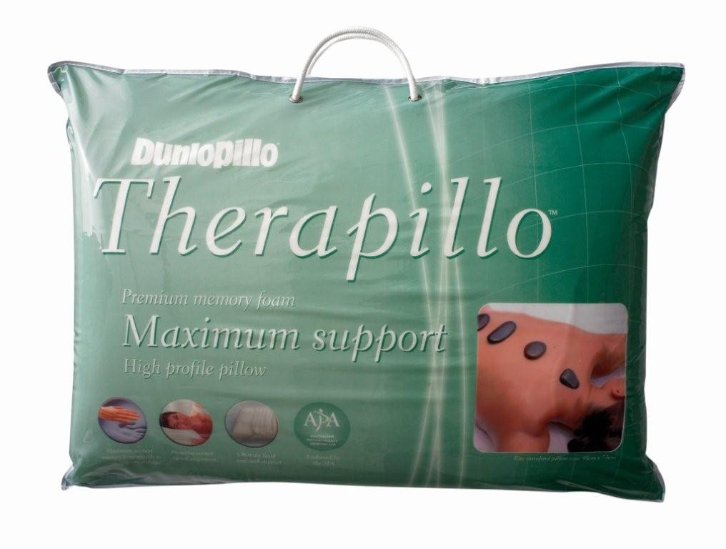 Dunlopillo Therapillo Premium Memory Foam High Profile Pillow by Sheridan