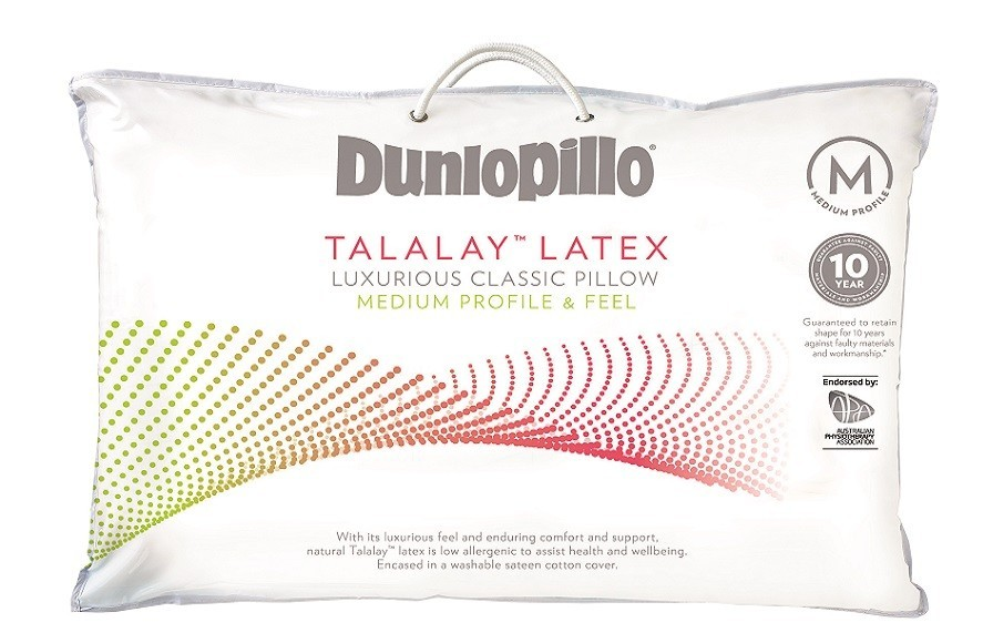 Dunlopillo Luxurious Latex Pillow Range by Sheridan