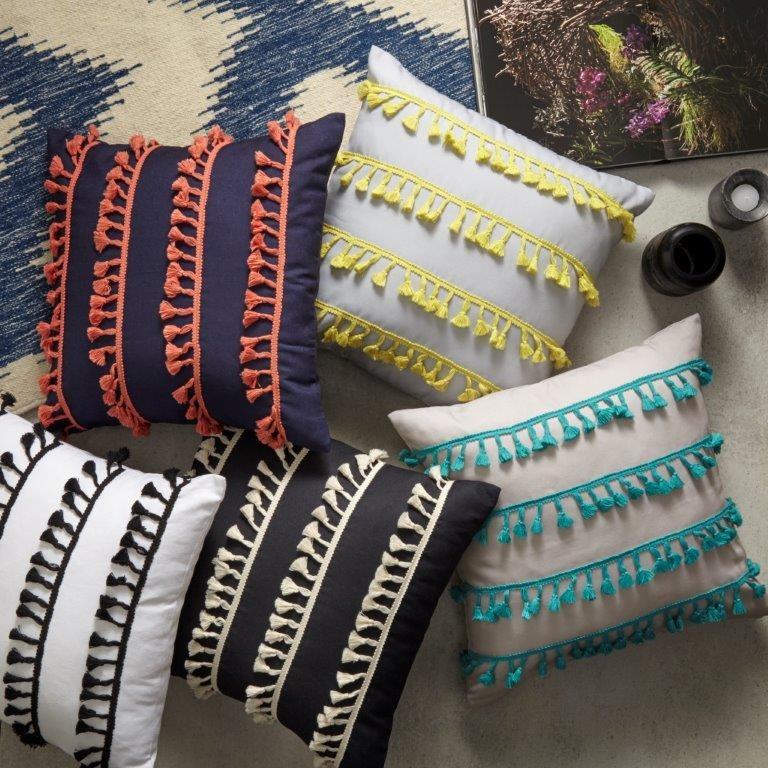 Tassel Cushions by Logan & Mason