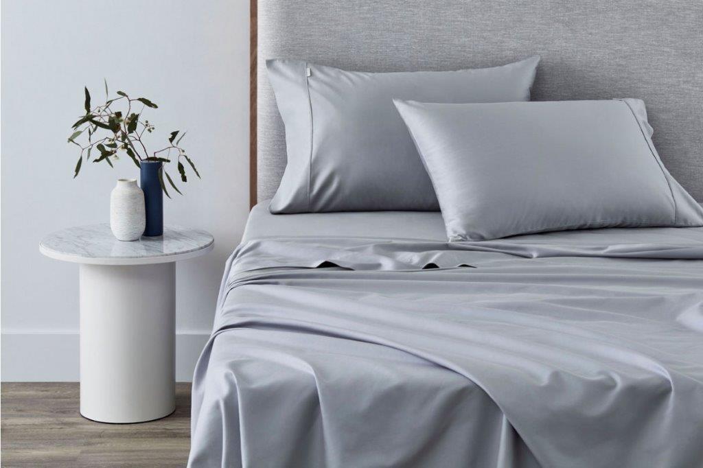 TENCEL™ Lyocell fibre & cotton sheet set Ash Blue by Sheridan