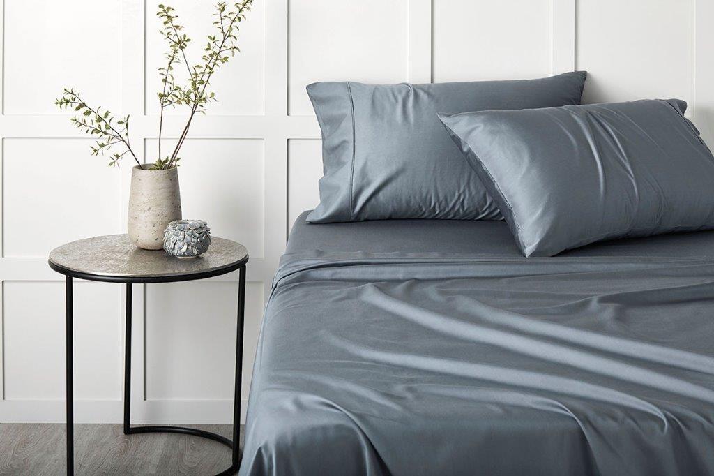 TENCEL™ Lyocell fibre & cotton sheet set Slate by Sheridan