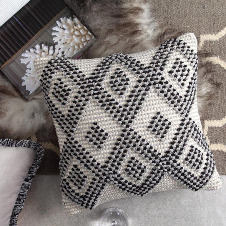 Tori Smoke Square Cushion by Logan & Mason
