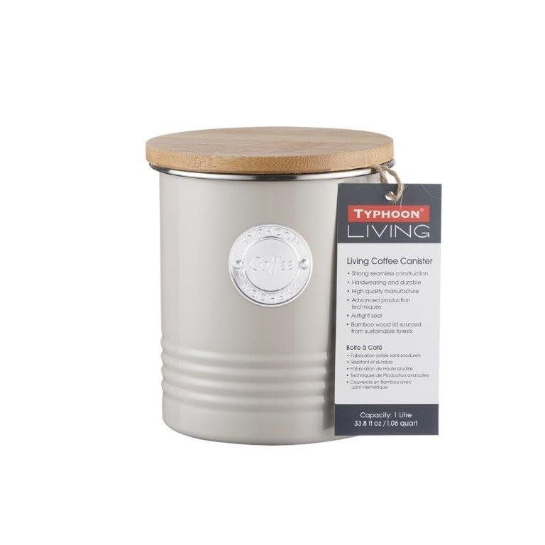 Typhoon Living Coffee Canister 1L Putty