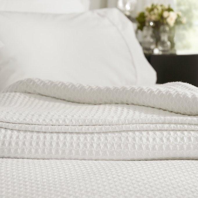 Cotton Waffle Blanket by Sheridan