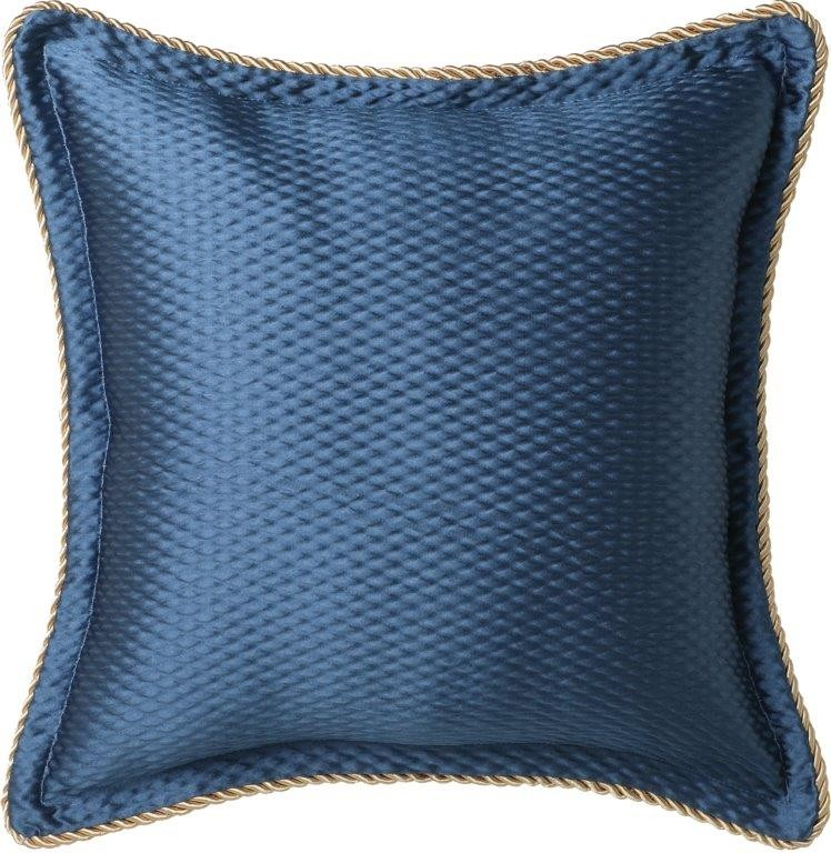 Windsor Navy Square Cushion by Da Vinci Private Collection