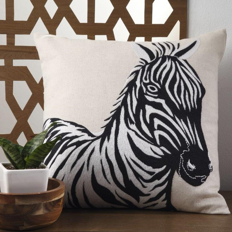 Zahara Linen Square Cushion by Logan & Mason