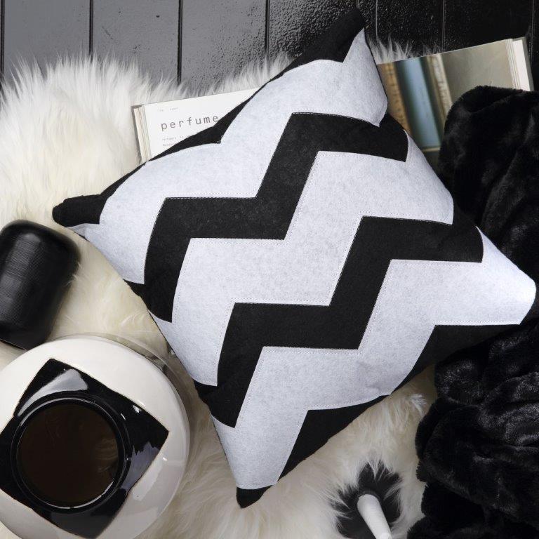 Zeke Black Square Cushion by Logan & Mason