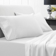 1000 Thread Count Hotel Weight Luxury Cotton Sateen Sheeting Range in Snow by Sheridan
