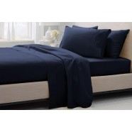 1000 Thread Count Hotel Weight Luxury Cotton Sateen Sheeting Range in Midnight by Sheridan